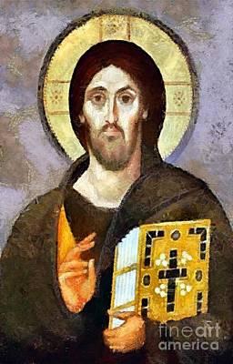 Christ Pantocrator Of Sinai Poster by Dragica  Micki Fortuna