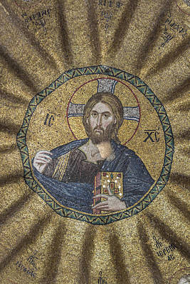 Christ Pantocrator Surrounded By The Prophets Of The Old Testament 2 Poster by Ayhan Altun