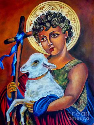Christ The Good Shepherd  Poster by Ryszard Sleczka