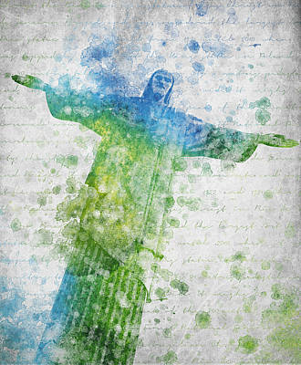 Christ The Redeemer  Poster by Aged Pixel