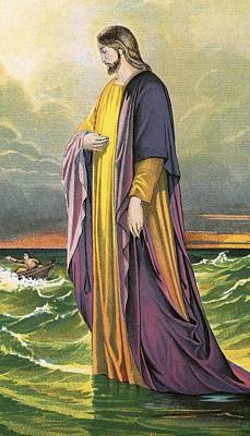 Christ Walking On Water Poster