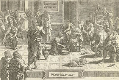 Christ Washes The Feet Of The Disciples, Print Maker Poster