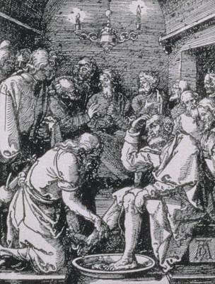 Christ Washing Peter's Feet Poster by Albrecht Durer or Duerer