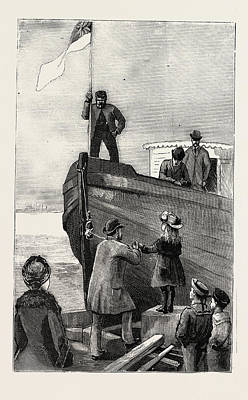 Christening The Ark, Engraving 1884, Granton Quarry Poster by English School