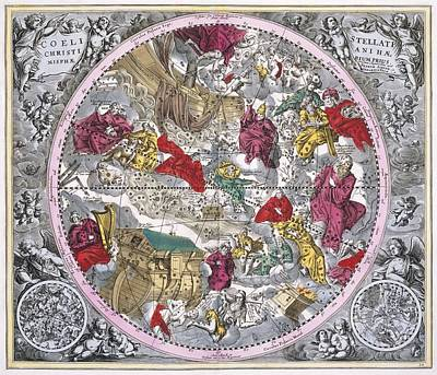 Christianized Constellations, 1708 Poster