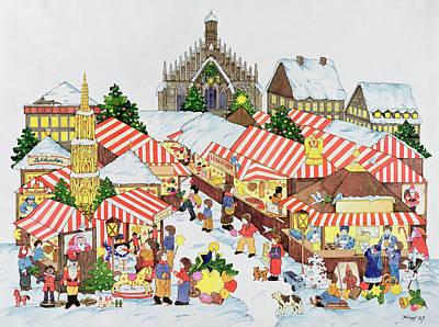 Christmas Market Poster by Christian Kaempf