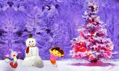 Christmas And Dora Poster