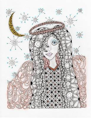 Christmas Angel Poster by Paula Dickerhoff