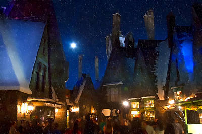 Christmas At Hogsmeade Blank Poster by Mark Andrew Thomas
