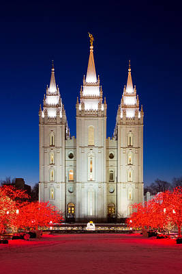 Christmas At Temple Square 17 Poster by Alan Nix