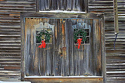 Christmas Barn Doors Poster