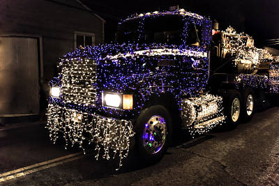 Christmas Big Rig Poster by Garry Gay