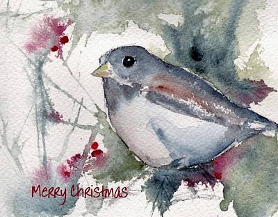 Poster featuring the painting Christmas Birds 01 by Anne Duke