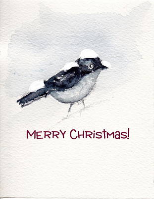 Poster featuring the painting Christmas Birds 02 by Anne Duke