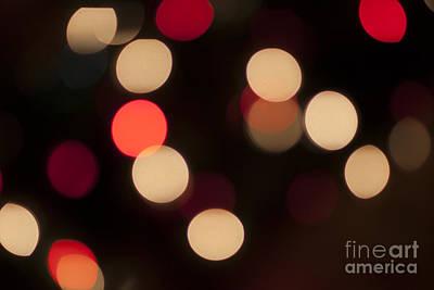 Christmas Bokeh Lights Poster by Juli Scalzi