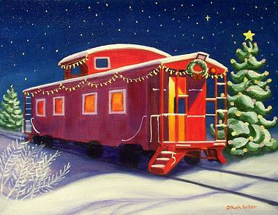 Christmas Caboose Poster