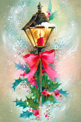 Christmas Candle Poster by Munir Alawi