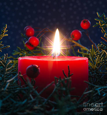 Christmas Candle Poster by Pat Lucas
