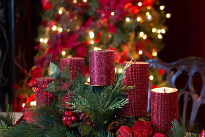 Poster featuring the photograph Christmas Candles by Patricia Babbitt