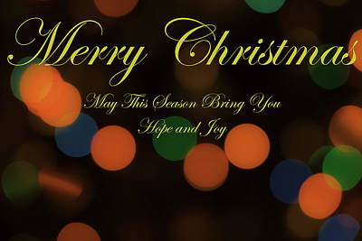 Christmas Card 1 Poster by Peter Scott