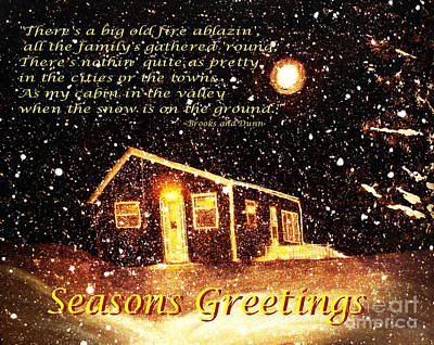 Christmas Card 9 Poster by Barbara Griffin