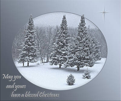 Christmas Card IIi Poster by Judy  Johnson