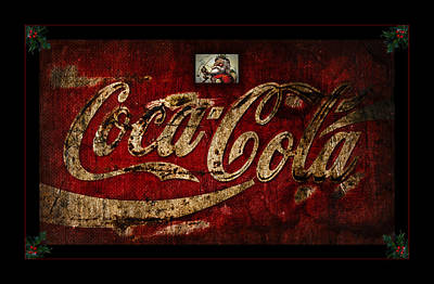 Christmas Coca Cola 1881 Santa Poster by John Stephens
