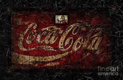 Christmas Coca Cola Ice Crystals 1881 Santa Poster by John Stephens