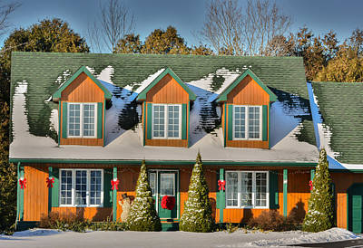 Christmas Cottage Poster
