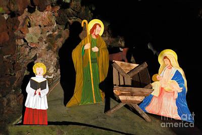 Christmas Crib Scene Poster by Gaspar Avila