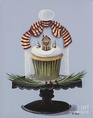 Christmas Cupcake Poster by Catherine Holman