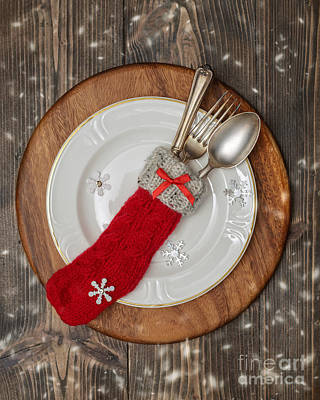Christmas Cutlery Poster