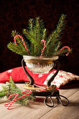 Christmas Decoration Poster by Amanda Elwell