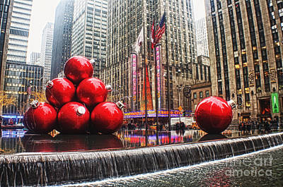 Christmas Decorations In New York Poster