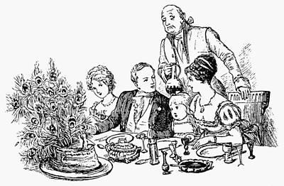 Christmas Dinner, 1875 Poster by Granger
