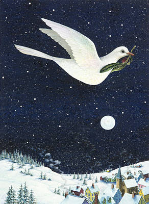 Christmas Dove Poster by Lynn Bywaters