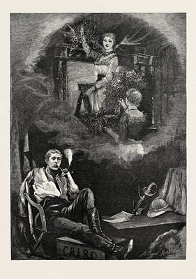 Christmas Eve Engraving 1884 Poster
