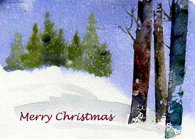Poster featuring the painting Christmas Forest 02 by Anne Duke
