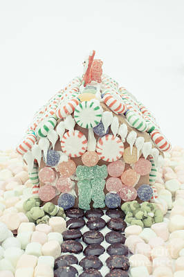 Christmas Gingerbread House Poster by Edward Fielding