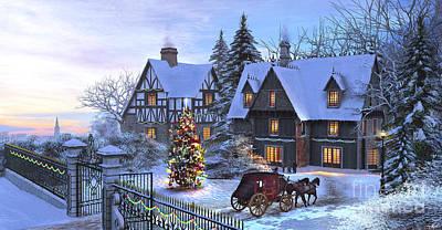 Christmas Homecoming Poster by Dominic Davison