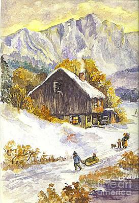 Poster featuring the painting A Winter Wonderland Part 1 by Carol Wisniewski