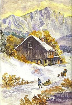 A Winter Wonderland Part 1 Poster by Carol Wisniewski
