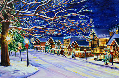 Christmas In Leavenworth Poster by Suzanne King
