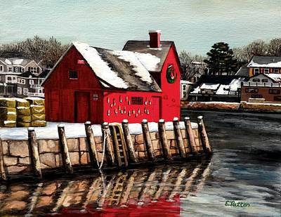 Christmas In Rockport Poster by Eileen Patten Oliver
