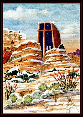 Christmas In Sedona Poster by Marilyn Smith