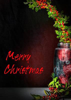 Christmas Jar Poster by David and Carol Kelly