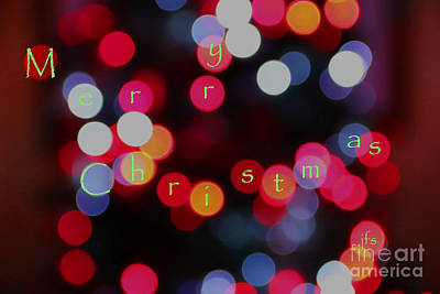 Christmas Lights Poster by Jack Schultz