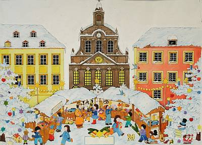 Christmas Market Poster by Christian Kaempf