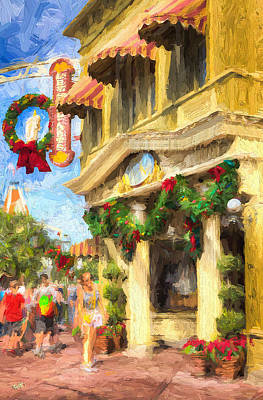 Christmas On Main Poster by Michael Petrizzo