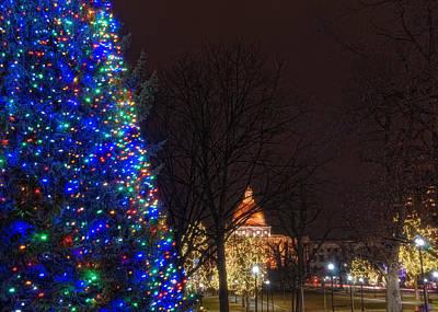 Christmas On The Common - Boston Poster